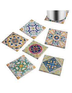 Ortigia Sottopentola Quadrato Ceramica Assortito Cm. 20 - 1Pz