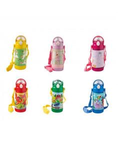 Bottiglia Termica Baby 350ml Inox/abs C/cannnuccia Silicone Decori Assortiti