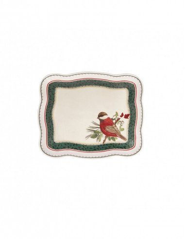 Vassoietto Cantico Porcellana (Uccellino)