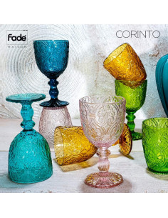 Corinto Set 6 Calici Ambra 300 Ml