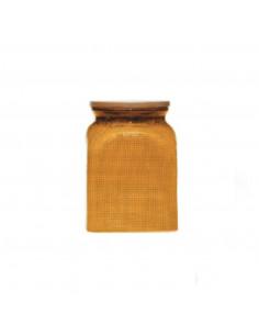 Unica Barattolo In Ceramica Giallo Cm. 11 x 16 Cm.