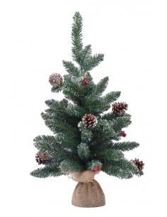 Albero Natale Corvara Con Bacche E Pigne Cm. 60