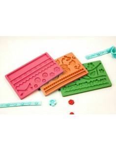 Stampo Fascia Decoro Pasta Da Zucchero Silicone Colori Assortiti Pz 1