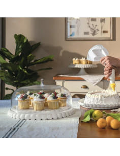 Set Tortiera Piccola Tiffany Bianco Latte