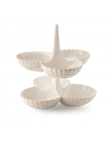 Set 2 Antipastiere Tiffany Bianco Latte