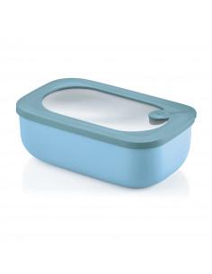 Store&more - Contenitore Ermetico Rettangolare Per Frigo/freezer/ Microonde Celeste Opaco